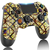 GOLDJU Controller For PS4 , Wireless Game Controller with Built-in 1000mAh Battery/Dual Vibration/Stereo Headset Jack/Touch Pad / Six-axis Motion Control,Compatible with PS4/Slim/Pro Console