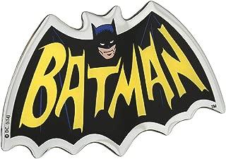 Fan Emblems Batman 1966 Logo Car Decal Domed/Multicolor/Chrome Finish, Adam West Classic TV Series Automotive Emblem Sticker Applies Easily to Cars, Motorcycles, Laptops, Cellphones, Windows, etc.