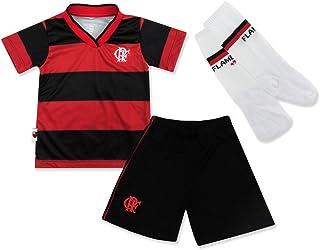 Rêve D'or Sport - Conjunto Dry Uniforme Campo Flamengo Menino, 4, Vermelho/Preto