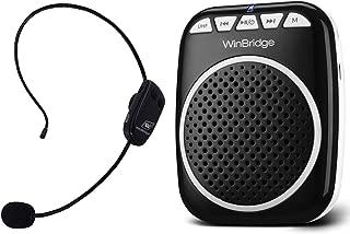 W WINBRIDGE Wireless Voice Amplifier, Portable Microphone and Speaker Rechargeable Lightweight Original Personal Clip On Loudspeaker for Elderly, Teaching, Presentations, Guiding etc 10W
