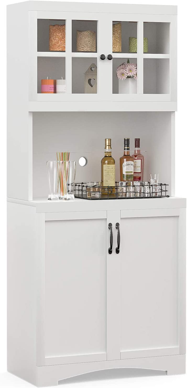 mecor Kitchen Pantry Storage Max 46% OFF Dealing full price reduction Cabinet Bu Standing Sideboard Free