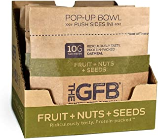 The GFB Protein Oatmeal, Fruit, Nuts and Seeds, 2 Ounce (Pack of 6), Gluten Free, Non GMO (Packaging May Vary)