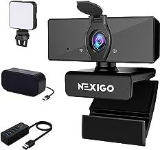 1080P Webcam Kits, NexiGo FHD USB Web Camera with Privacy Cover, Video Conference Lighting, USB Computer Speaker, 4-Port U...