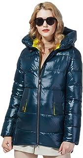 Abrigo de Invierno para Mujer, Chaquetas con Capucha, Abrigo cálido de Moda, Parka y Abrigo de Longitud Media