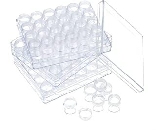90 pcs Plastic Storage Container Set Beads Storage Boxes & Organizers Transparent Bottles