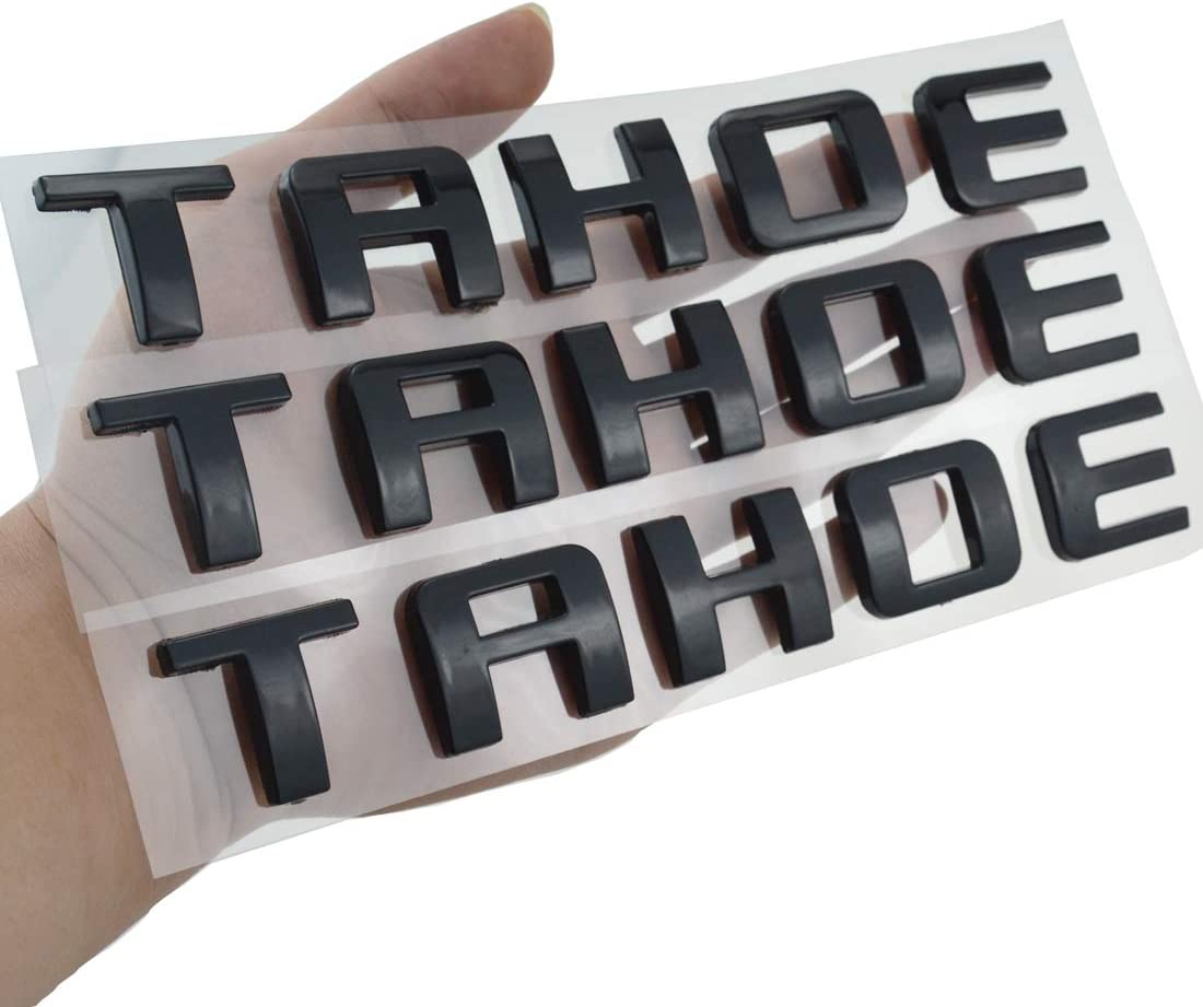 3X Tahoe Emblems Clearance SALE Limited Branded goods time Door LIFTGATE Badges and Strong Adhes Raised 3D