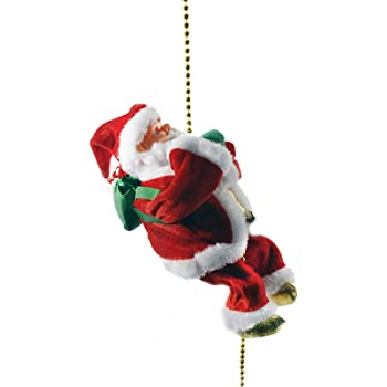 """Haktoys Climbing Santa Claus 9"""" Christmas Ornament Decoration Gift 