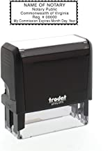 Self-Inking Custom Notary Public Stamp - Virginia