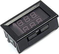 ACAMPTAR 0.56 pulgadas Rojo + Azul Termometro LED digital de doble pantalla Medidor de temperatura Modulo sensor de sonda de metal impermeable -20~100 grados Celsius
