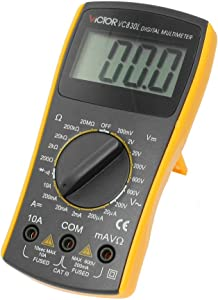 Black Yellow VC830L Volt Ampere Ohm Meter Digital Multimeter Leads