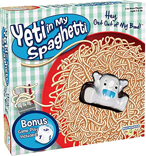 Yeti in My Spaghetti -- Award-Winning, Silly Children's Game -- Hey, Get Out of My Bowl! -- Ages 4+ -- 2+ Players