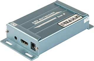 Treaslin 1080P HDMI Extender Extensor Matriz sobre IP Hasta 150m HDMI sobre Lan Soporte 1 a muchos sobre un solo CAT5/CAT5E/CAT6 con 3.5mm Extractor de audio para PC portátil PS3 PS4
