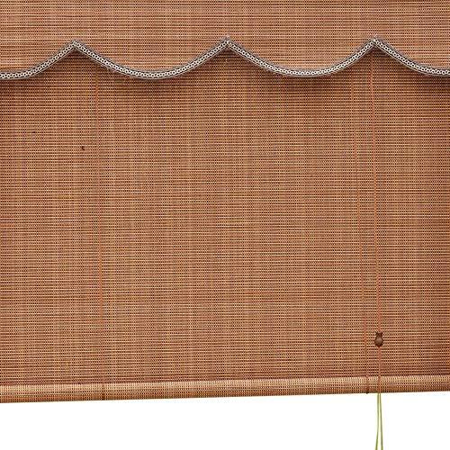 Jcnfa-Roller Blind Bamboe Rolgordijnen, Office slaapkamer raamdecoratie, hoge dichtheid, 6 Inch Valance Gordijn Wave