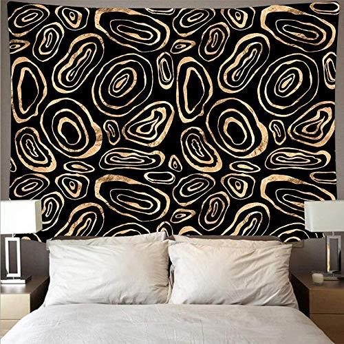 Misteriosa figura geométrica tapiz arte tapiz psicodélico colgante de pared toalla de playa manta fina tela de fondo A5 180x230cm