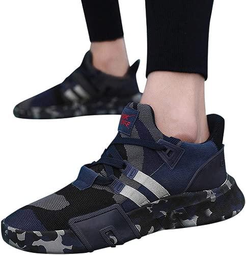 CZYDXCC Sportschuhe Casual Turnschuhe Sport Laufen Atmungsaktive Flache Camouflage Schnürschuhe Schuhe Herren Turnschuhe Casual Schuhe