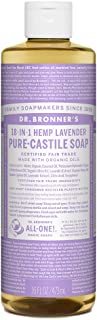 Dr. Bronner's - Pure-Castile Liquid Soap (Lavender, 16 oz) - Made with Organic Oils, 18-in-1 Uses: Face, Body, Hair, Laund...
