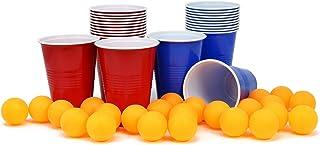 com-four® 24x Beer Pong Set avec Tasses et 24 balles - Tasse de Beer Pong - Beer Pong - Beer Pong Cup (048 pièces Tasses +...