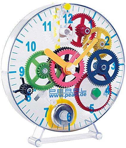 PEARL NC-7347 Uhrenbausatz: Meine erste Pendeluhr Kinder (Uhren selber Bauen Bausatz), Transparent
