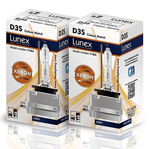 Lunex D3S Xenarc Phare Lampe au xénon ampoule de rechange (4300K)