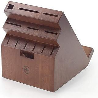 Victorinox Swiss Army Swivel Universal Messerblock Dunkles Holz