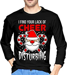 I Find Your Lack of Cheer Disturbing Long Sleeve锛孖 Find Your Lack of Cheer Disturbing Men's Long Sleeve T-Shirts