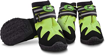 All for Paws Dog Paw Protector Boots for All Seasons, Waterproof Dog Hiking Shoes with Reflective Straps, 4PCS