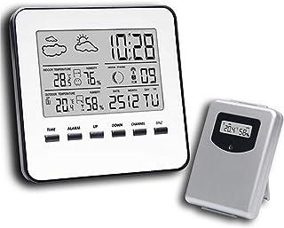 XYXZ Mini Higrómetro Digital LCD Tiempo Escritorio Relojes De Mesa Pantalla Termómetro Inalámbrico Reloj Temperatura Medid...