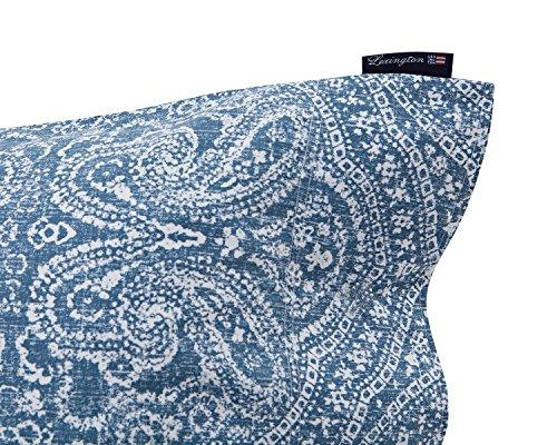 Lexington Bettwäsche Bettdecke und Kissenbezug, Baumwolle und Satin, blau, Einzelbett, 220x 150x 0.02cm, 2Stück