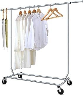 Camabel Portant à vêtements à roulettes Metal Longueur extensible 130-190cm Tringle résistante pour Hauteur métal Charge M...
