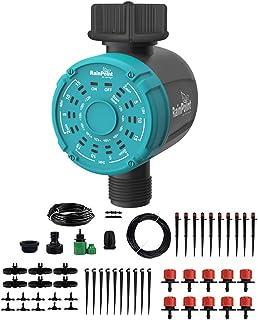 Mainstayae Drip Irrigation Sprinklers System Irrigation Water Timer Controller Distribution Tubing Watering Drip Kit Autom...