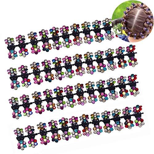 Mini Haarspangen,OSUTER 48PCS Haarspange Klaue Bunt Klein Blume Schönem Haarklammer für Mädchen Kinder und Damen