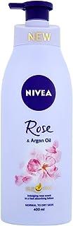 Nivea Body Care Unisex Oil in Lotion, Rose and Argan Oil, 400ml