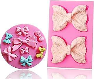 Bow Silicone Fondant Mold Bowknot Sugar Craft DIY Gumpaste Cake Decorating Clay mold chocolate Cupcake Topper