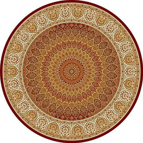 OUTGYM Vintage runder Teppich Traditioneller Teppich mit klassischem Blumenmuster im persischen...
