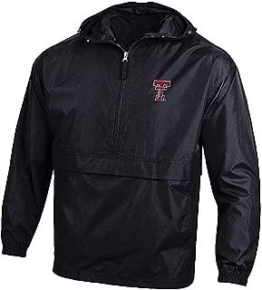 NCAA Men's Pack N Go Synthetic 1/4 Zip Hoodie Windjacket