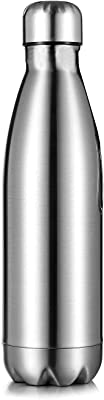 Simple Travel Gear Vacuum Insulated Water Bottle | Leak-proof Double Walled Stainless Steel | Portable Bottle | No Sweating Keeps Your Drink Hot or Cold | 17 Oz (1)