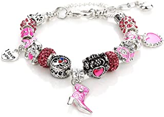 Best breast cancer awareness charm bracelet Reviews
