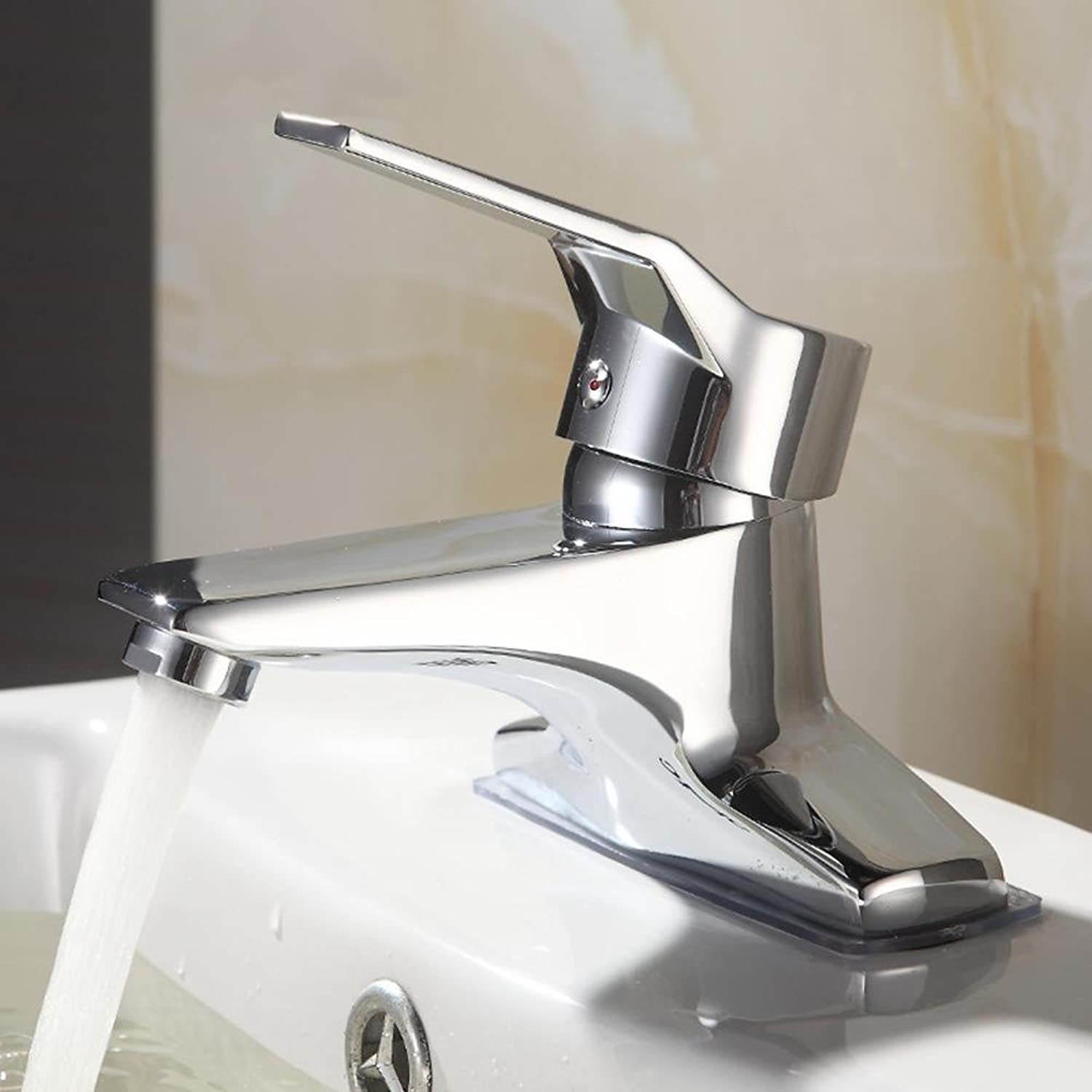 Fashion Full Copper Design Double Hole Single Handle Mixed Tap Silver Bathroom Sink Faucet