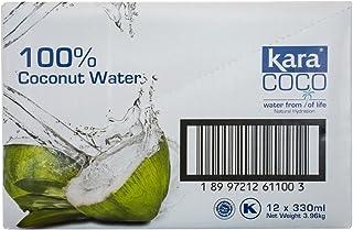 Kara 100% Coconut Water, 330ml (Pack of 12)