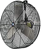 Schaefer F5-24 Versa-Kool 24' High Velocity Livestock Circulation Fan, Made in USA, 1/2 HP, 7680CFM, Hang Mount Included, Black