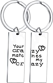 2Pcs Couples Gifts Couple Keyring Gifts for Boyfriend Girlfriend Gifts for Anniversary Husband Gifts Wife Christmas Gifts