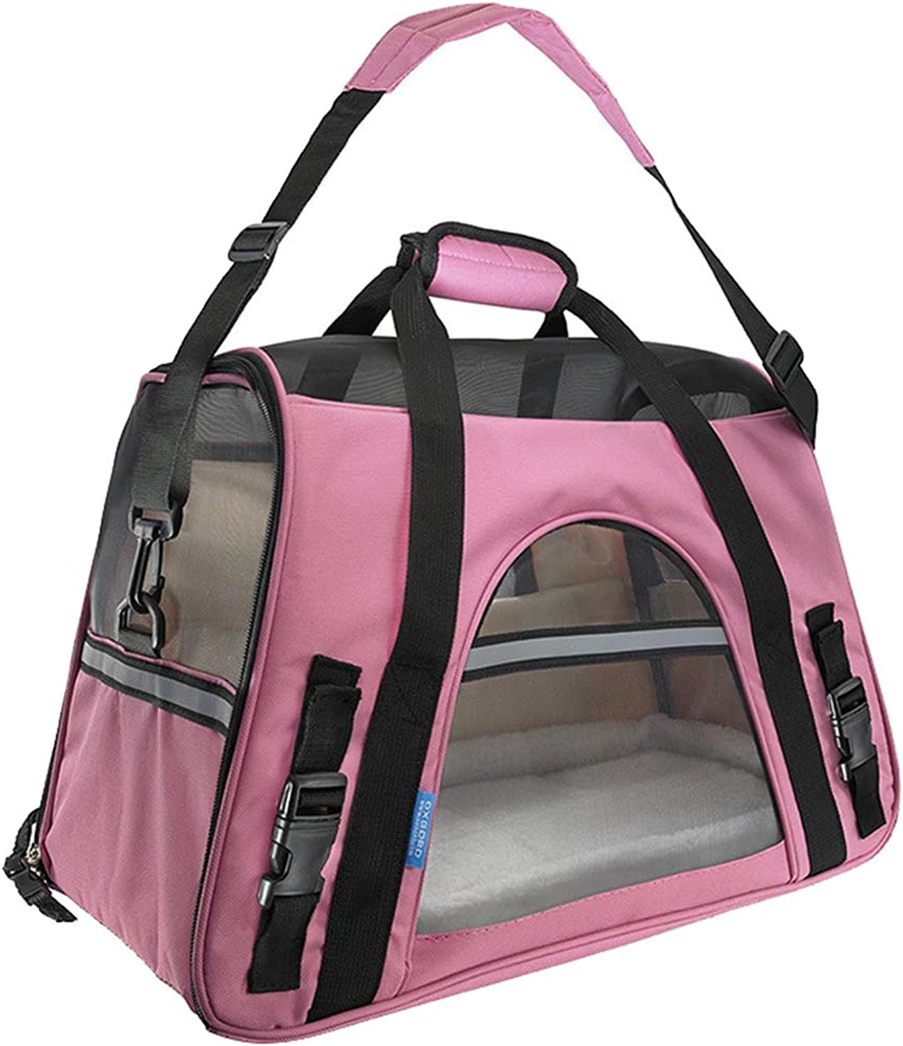 Pet Travel Carrier Bag for Dogs or Cats, Expandable Soft Sided Pet Tote Carriers Bags, Fleece Sleep Pads, Soft Side Mesh Breathability