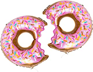 Take a Bite Out Donut Balloons Pink Sprinkles, over 2 feet wide, 2qty by Bobee