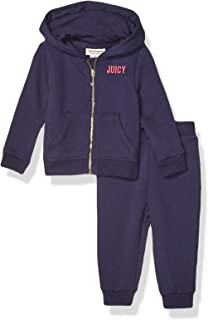 Juicy Couture Baby Girls 2 Pieces Hooded Jog Set