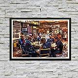 ganlanshu Pintura sin Marco Gran colección de héroes niños y Adolescentes Sala de Estar Dormitorio Estudio hogar Dormitorio decoración de arteAY5401 60X90cm