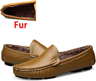Big Size 36~50 Genuine Leather Men Shoes Soft Moccasins Loafers Fashion