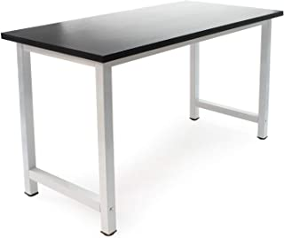 WilTec Bureau Ordinateur PC Table de Travail Meuble Salle à Manger Cuisine 120x60x74cm Noir Métal