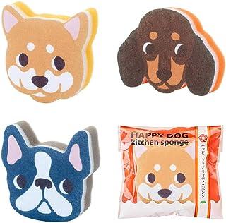 【ハッピードッグキッチンスポンジ】犬 まとめ買い かわいい アニマル (60個セット)