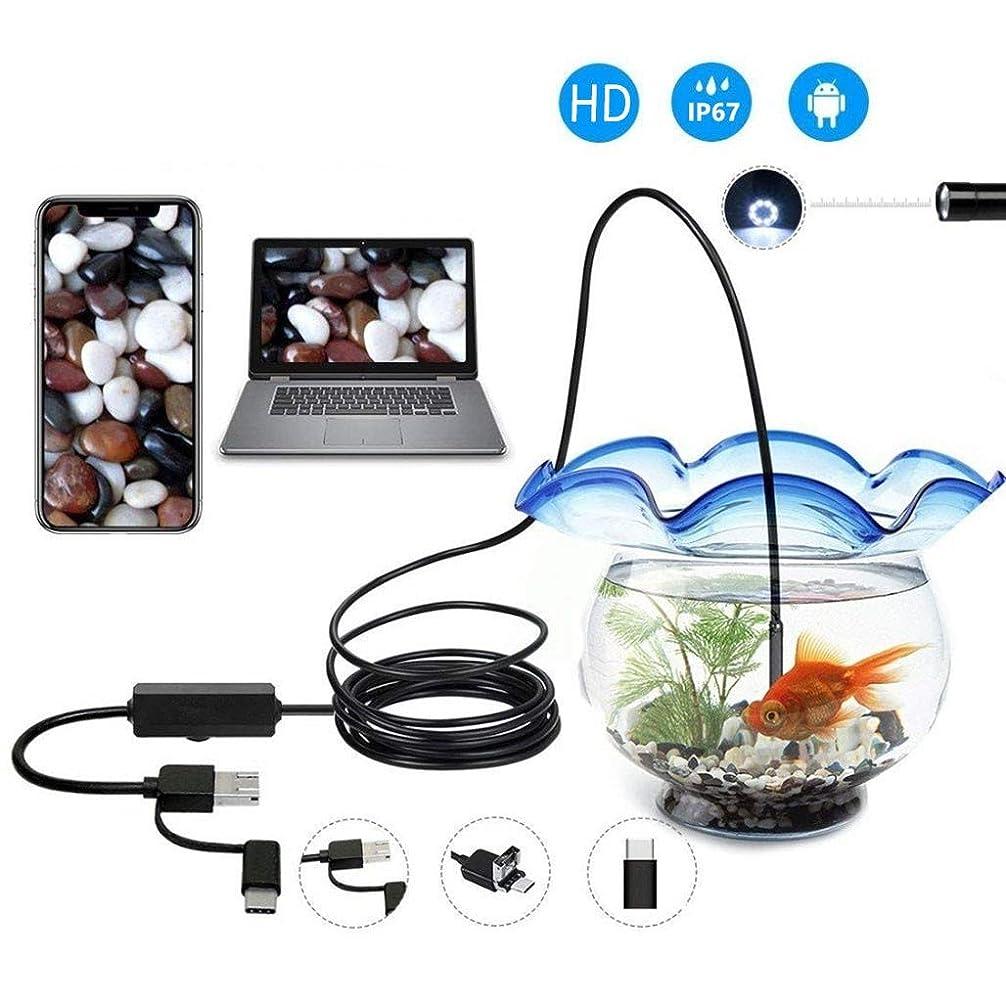 落とし穴咽頭かき混ぜる内視鏡アンドロイドUSB内視鏡TYPE-c 3in1カメラ7ミリメートルhd防水スネークカメラで6用ledウィンドウズmacbook pcアンドロイド内視鏡2メートルケーブル