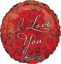 Anagram International Hx I Love You Roses Balloon, Multicolor